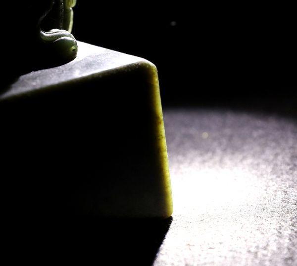 古董品 唐物 中国古美術 清時代 雍正御筆 雍正御玩文房九寶 新疆碧玉 瑪納斯碧玉 檀木盒 置物 擺件 賞物 精美品_画像10