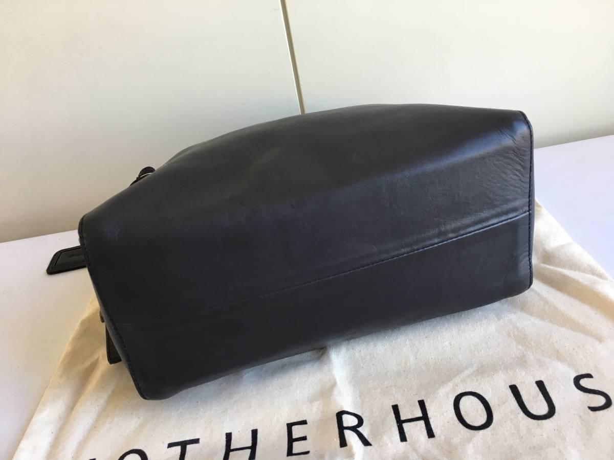 極美品◎MOTHERHOUSE マザーハウス レザー2WAYバッグ ショルダーバッグ リュック トートバッグ型保存袋つき◎_画像4