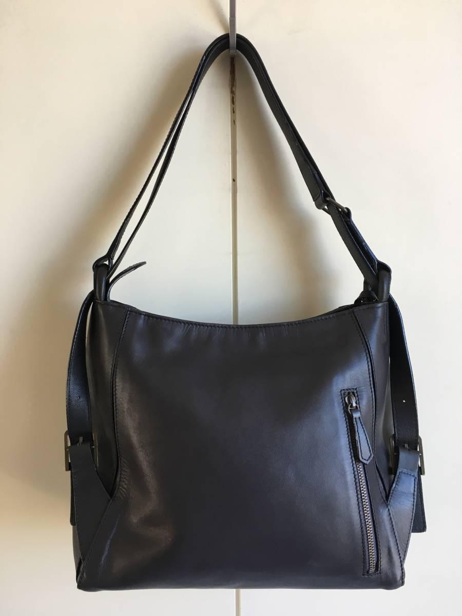 極美品◎MOTHERHOUSE マザーハウス レザー2WAYバッグ ショルダーバッグ リュック トートバッグ型保存袋つき◎_画像2