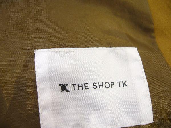 新品★ タケオキクチ THE SHOP TK フード付 スプリングコート M キャメル フーデッド ステンカラーコート タイプライター メンズ_画像6