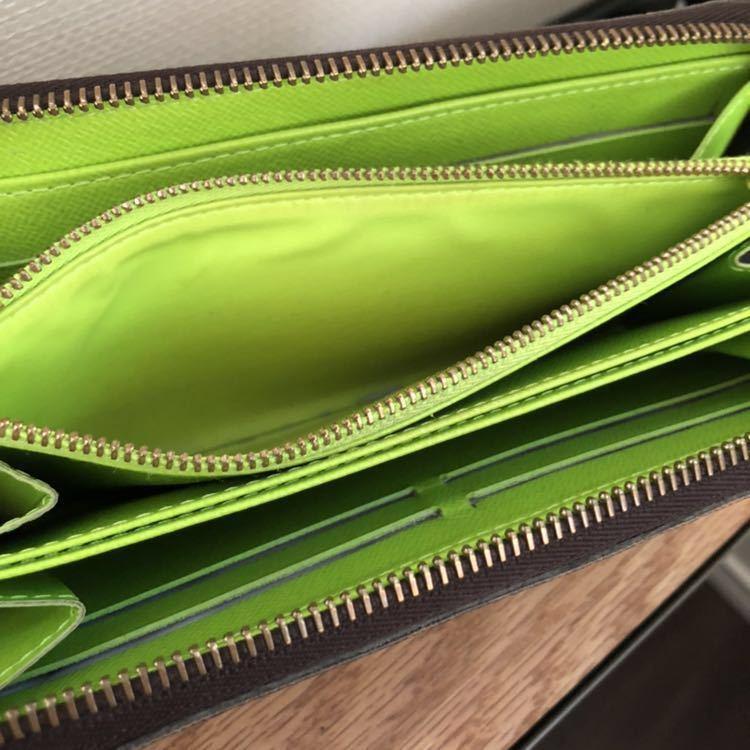 [正規品]LOUIS VUITTN ルイ・ヴィトン M93712 グラフィティ ジッピーウォレット 財布 ヴェール(グリーン) 美品 1000円~最落なし★★★_画像7