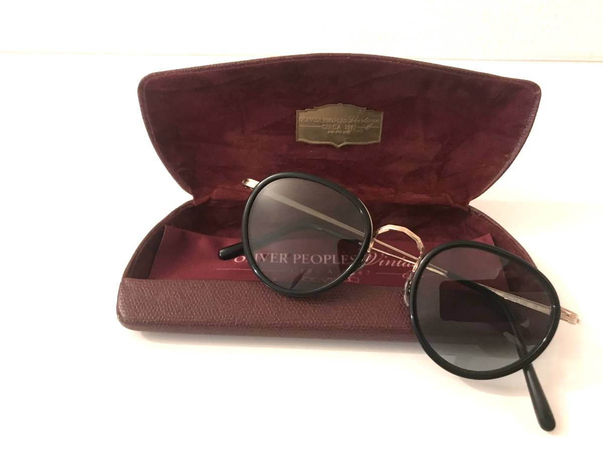 OLIVER PEOPLES [復刻モデル MP-2 BK Limited Edition 雅 (オプテックジャパン期)]オリバーピープルズ サングラス メガネ メガネ sun MP2