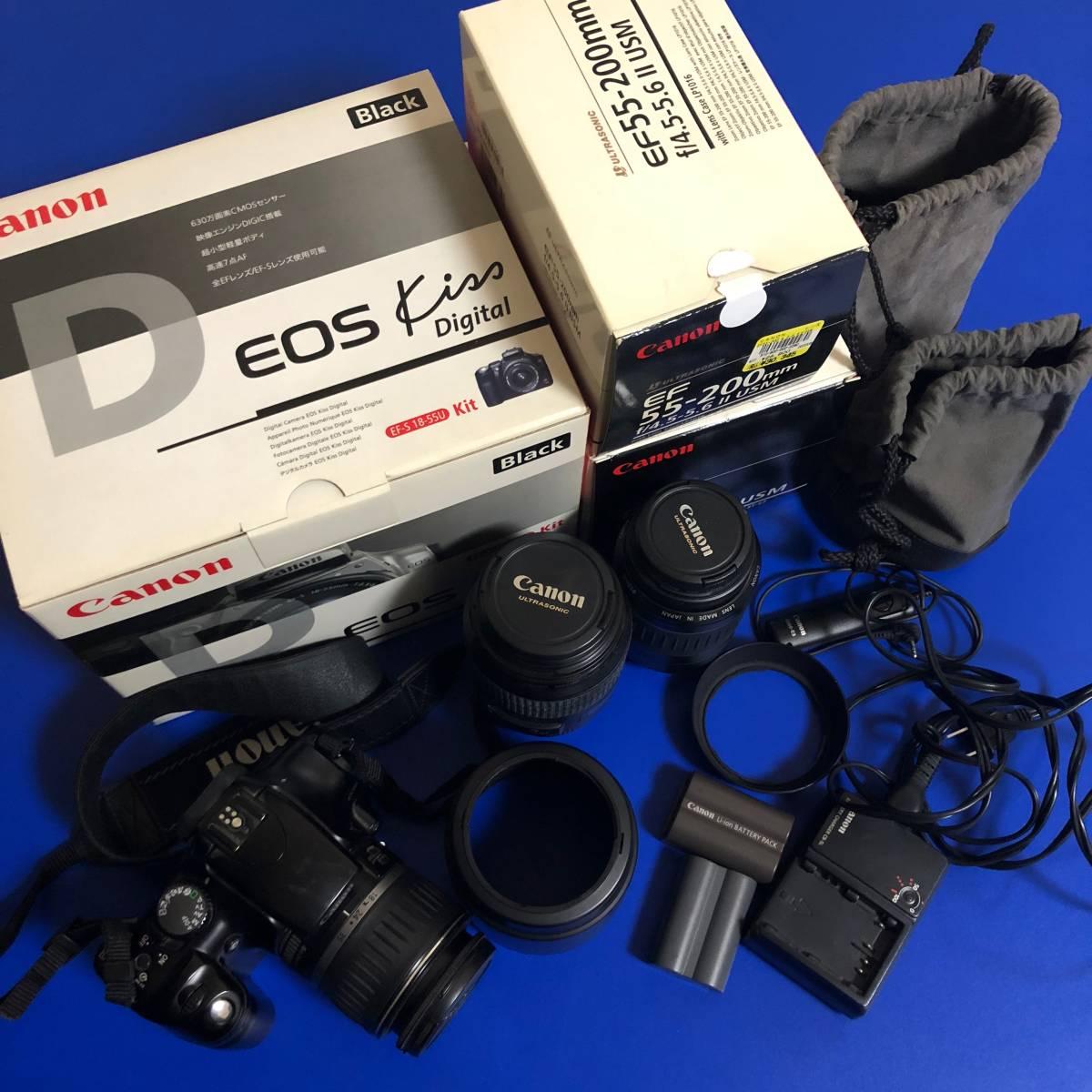 送料込 Canon 一眼レフカメラ EOS Kiss Digital他(ジャンク)
