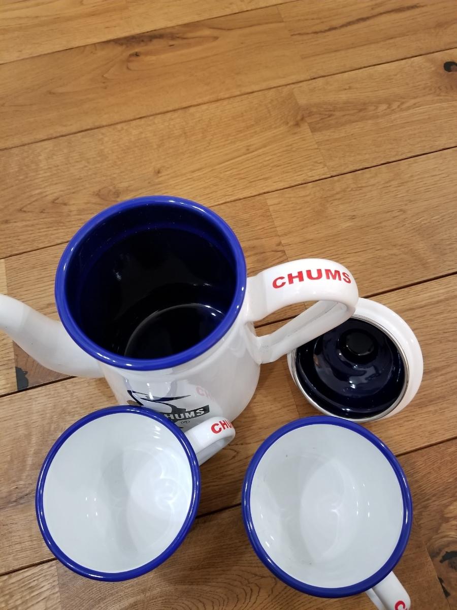 チャムス(CHUMS)ホーローコーヒーポット&ホーローマグブービー_画像3