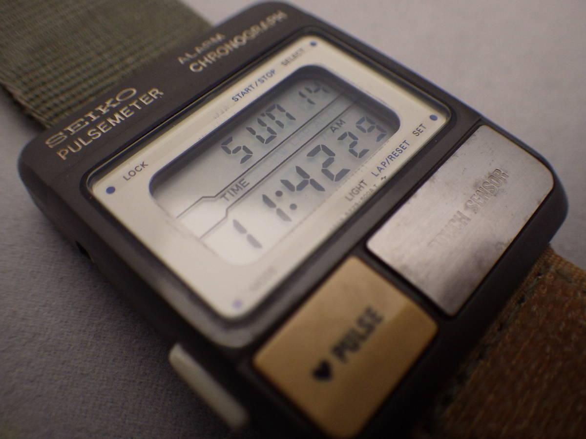 デッドストック 80's SEIKO PULSE METER パルスメーター S229-5001 心拍計 電池交換済 ランナーズ_画像3