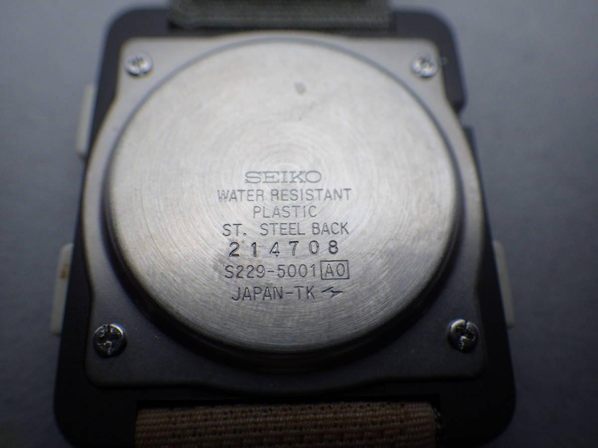 デッドストック 80's SEIKO PULSE METER パルスメーター S229-5001 心拍計 電池交換済 ランナーズ_画像8