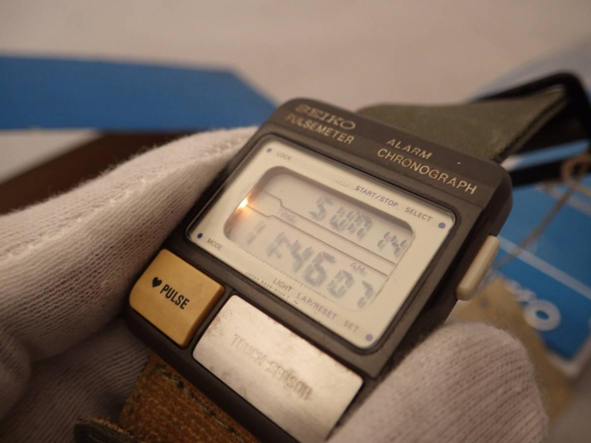 デッドストック 80's SEIKO PULSE METER パルスメーター S229-5001 心拍計 電池交換済 ランナーズ_画像10