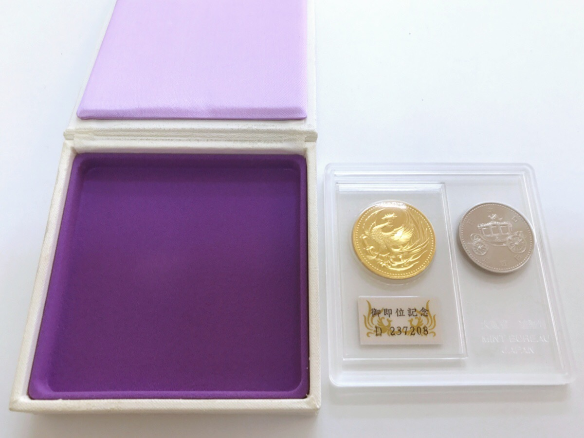 天皇陛下御即位記念 ◆ 10万円金貨 500円白銅貨 記念貨幣セット◆ K24 純金 30g_画像9