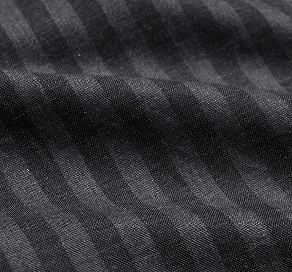 新品3.6万 LUIGI BORRELLI ルイジボレッリ 春夏スタイルON/OFFシックに決まる! ストライプ柄 長袖シャツ (39) 「M相当」ブラック×グレー_画像8