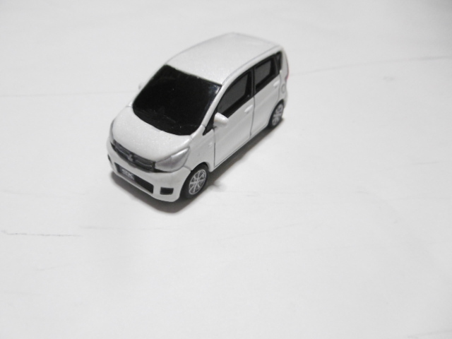 三菱 ekワゴン ミニカー ホワイト_画像1