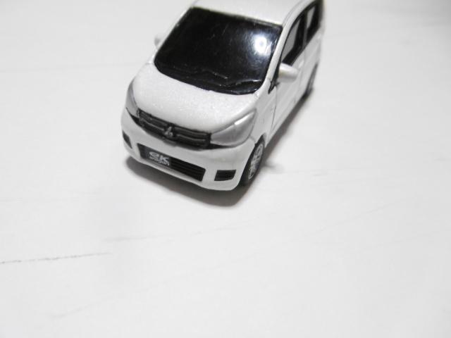 三菱 ekワゴン ミニカー ホワイト_画像2