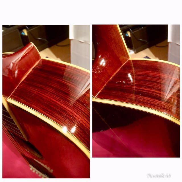 枯鳴 ジャパンビンテージ モーリス W-35 ナットサドルブリッジオール牛骨 クリーニング 弦高調整済 音質改善加工済 新品弦ソフトケース付 _画像10