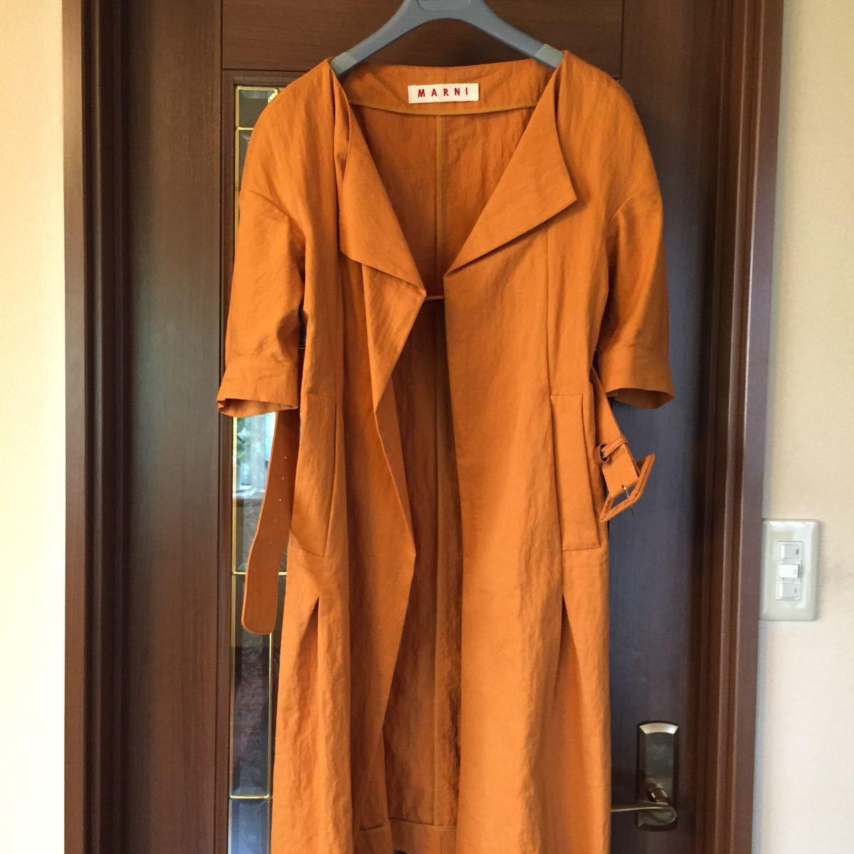 マルニ、コットン、ナイロン混紡、素敵コート