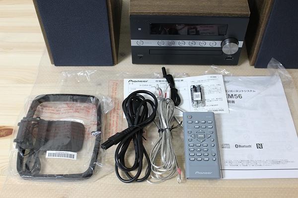 ★展示機!パイオニア X-CM56-B Bluetooth対応 USB端子搭載CDミニコンポ★_画像2