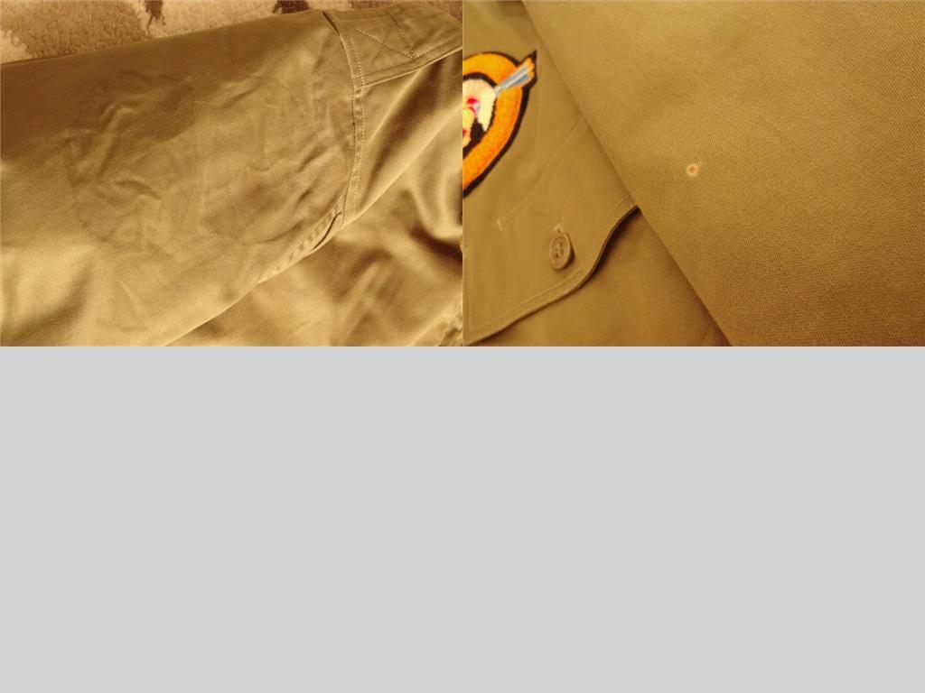 【バズリクソンズ BuzzRickson's】 B-10(44) ★純正カスタムモデル!!★_右腕のパッチを外した跡と左腕の焦げ跡です