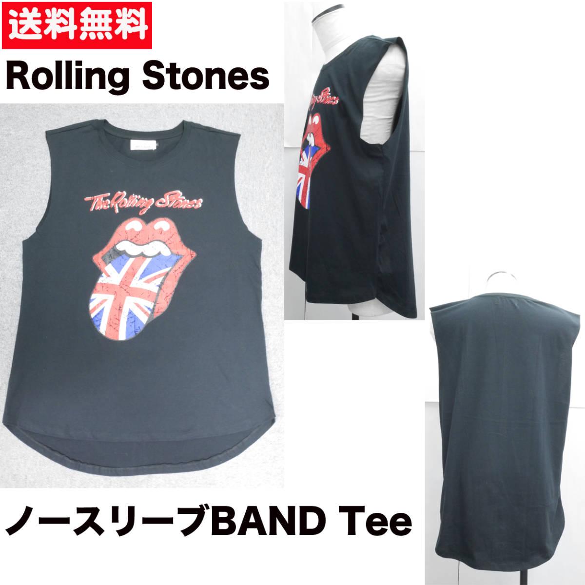【新品】 バンドTシャツ L ノースリーブ 半袖 ビッグ ワイド ロック ローリングストーンズ The Rolling Stones 7/13_画像2