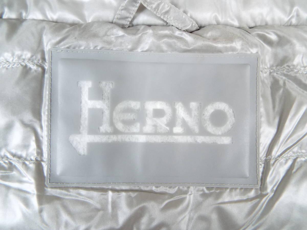 [私物・超美品] ヘルノ HERNO 超軽量 半袖グースダウン・ジャケット(No,2245 )_画像9