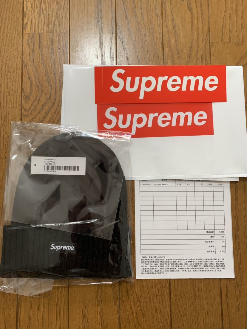 ★新品★Supreme Overdyed Beanie Black ニット帽 BOX Logo