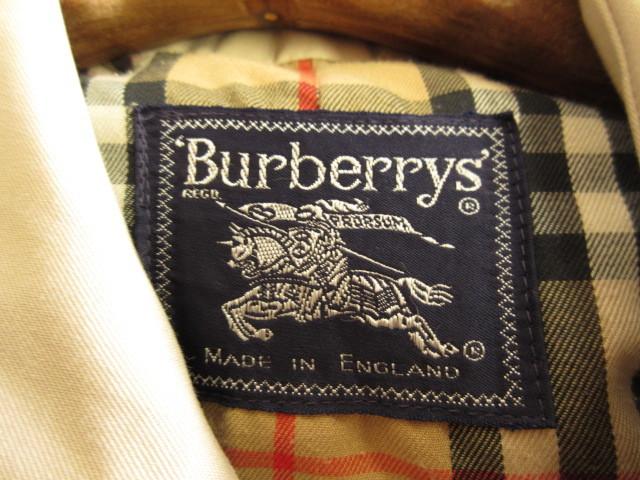 英国製◆ BURBERRYs バーバリー スプリングコート  ステンカラー コート ノバチェック メンズ ヴィンテージ_画像6