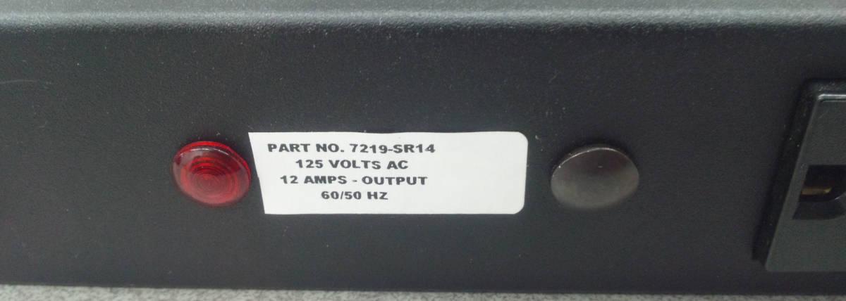 送料無料 電力配分ユニット 15Amp 125Volt 60/50Hz ラックマウントPDU スイッチ 分電 配電 サーバー 電源タップ コンセント NEMA 5-15R_画像5