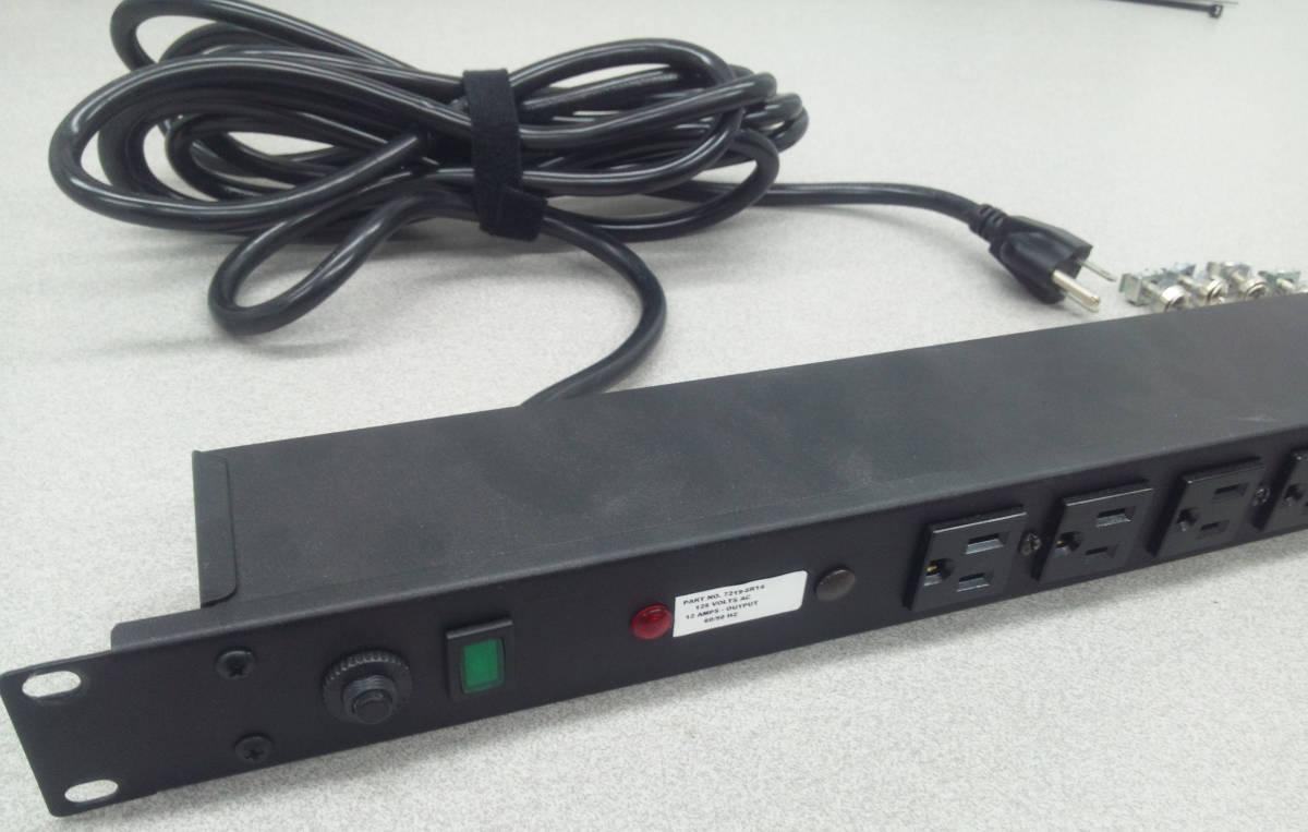 送料無料 電力配分ユニット 15Amp 125Volt 60/50Hz ラックマウントPDU スイッチ 分電 配電 サーバー 電源タップ コンセント NEMA 5-15R_画像6