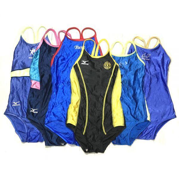 16*整理品スイミングクラブマーキング・パイピング6枚セット女子競泳水着(130・140・M)★ミズノ・ルートワン・小松ニットなど