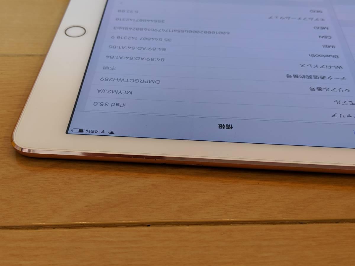 【送料無料】Apple iPad Pro 9.7インチ Cellular 256GB ローズゴールド(国内版SIMフリー) MLYM2J/A_画像9