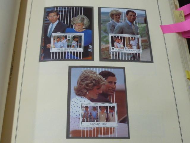 ダイアナ妃 切手 世界各国 1981-2002年 英国皇室ダイアナ妃の生涯 単片230種+S/S・S/L160種 90%完揃 未使用NH美品 バインダー付 計2冊 _画像3