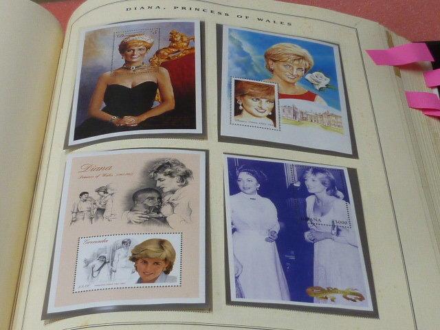 ダイアナ妃 切手 世界各国 1981-2002年 英国皇室ダイアナ妃の生涯 単片230種+S/S・S/L160種 90%完揃 未使用NH美品 バインダー付 計2冊 _画像4