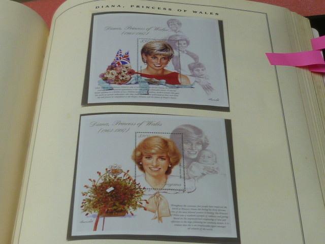 ダイアナ妃 切手 世界各国 1981-2002年 英国皇室ダイアナ妃の生涯 単片230種+S/S・S/L160種 90%完揃 未使用NH美品 バインダー付 計2冊 _画像5