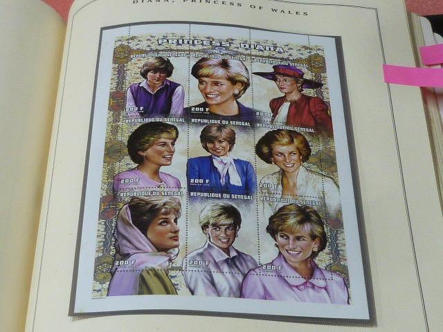 ダイアナ妃 切手 世界各国 1981-2002年 英国皇室ダイアナ妃の生涯 単片230種+S/S・S/L160種 90%完揃 未使用NH美品 バインダー付 計2冊 _画像6