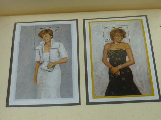 ダイアナ妃 切手 世界各国 1981-2002年 英国皇室ダイアナ妃の生涯 単片230種+S/S・S/L160種 90%完揃 未使用NH美品 バインダー付 計2冊 _画像7