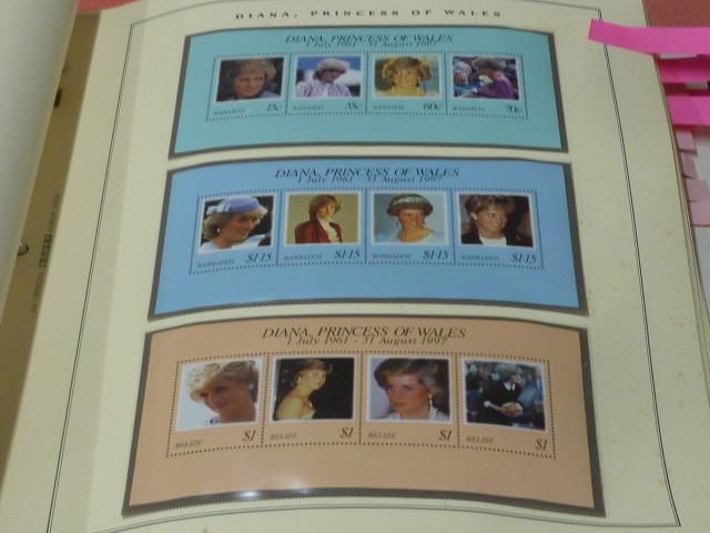 ダイアナ妃 切手 世界各国 1981-2002年 英国皇室ダイアナ妃の生涯 単片230種+S/S・S/L160種 90%完揃 未使用NH美品 バインダー付 計2冊 _画像8