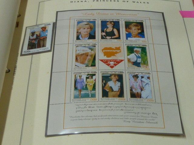 ダイアナ妃 切手 世界各国 1981-2002年 英国皇室ダイアナ妃の生涯 単片230種+S/S・S/L160種 90%完揃 未使用NH美品 バインダー付 計2冊 _画像9