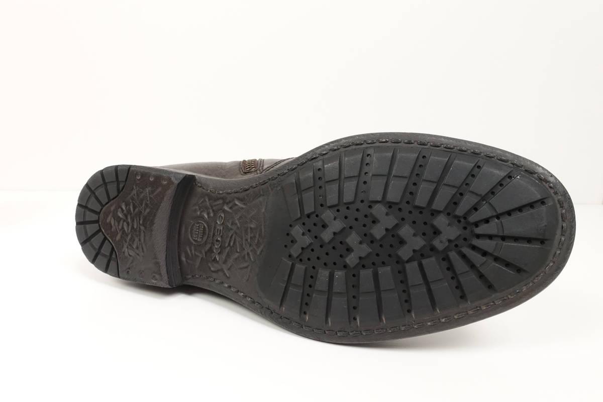 【新品2.5万】 GEOX ジェオックス 艶っぽい大人の色気を感じさせる サイドジップ レザー ショートブーツ EU40(日本サイズ25cm程度)_画像7
