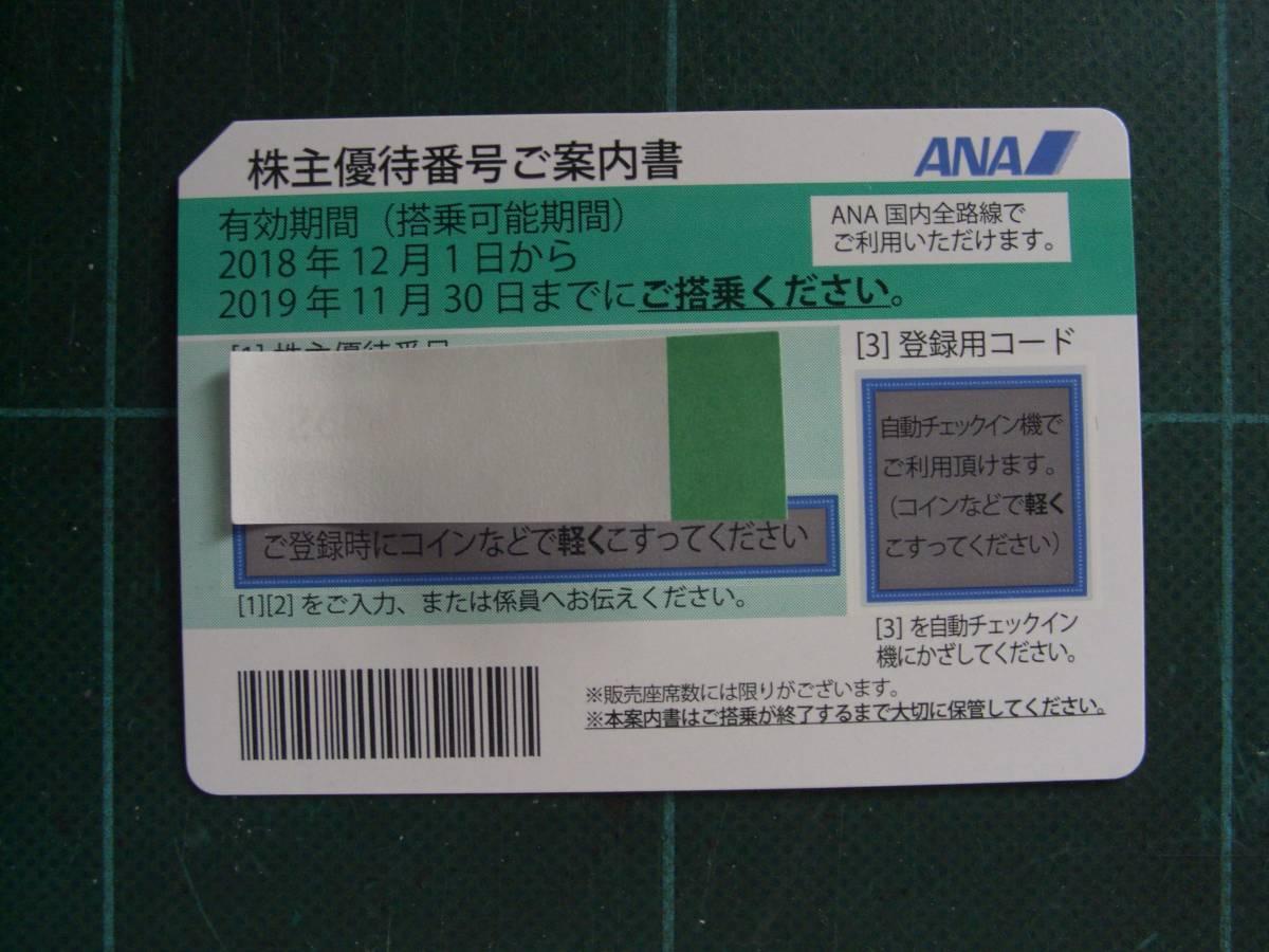 送料無料 ANA株主優待券 4枚セット 11月30日迄有効_画像3
