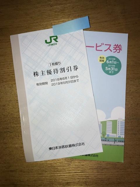 JR東日本株主優待券1枚+サービス券