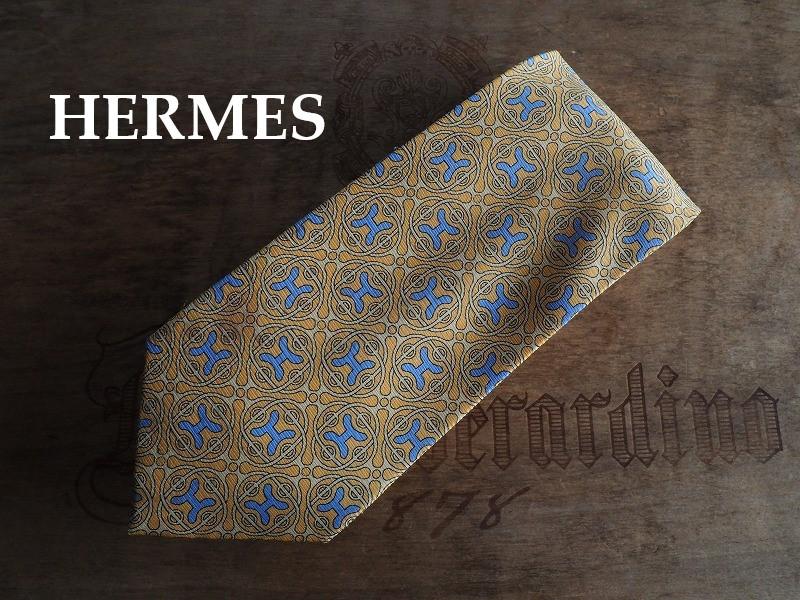 ほぼ未使用 HERMES エルメス オールド ブランドネクタイ silk100%