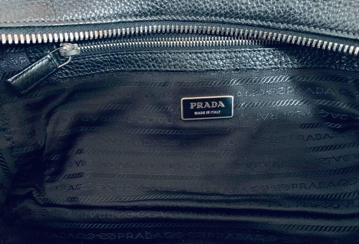 PRADA プラダ ボストンバッグ ブラック ギャランティ―カード 付属 Boston Bag Black_画像5