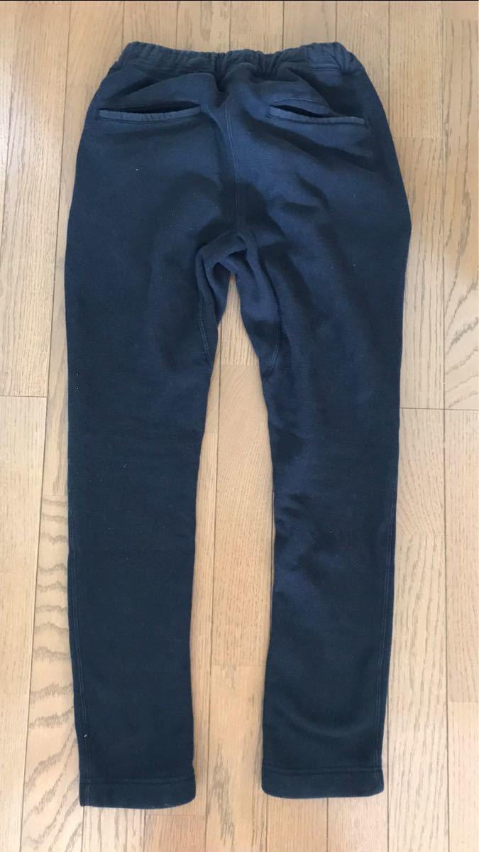 ナノユニバース チャンピオン 別注 ブラック 黒 Sサイズ スウェットパンツ 裏起毛 zipポケット_画像3