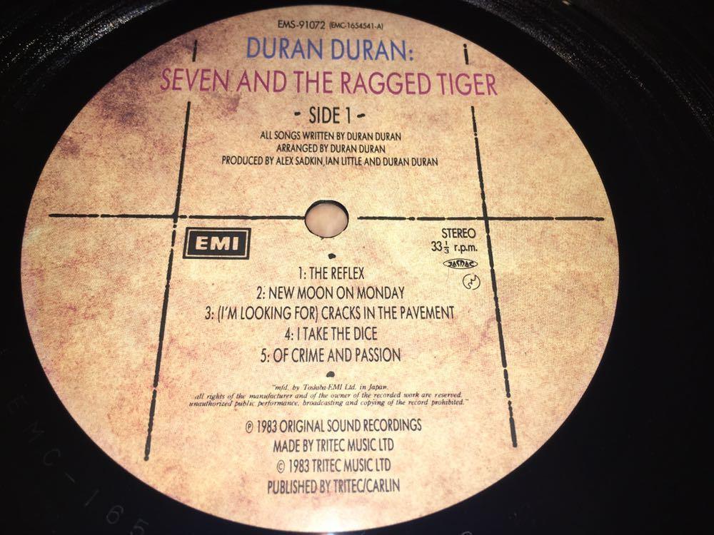 Duran Duran★中古LP国内盤帯付「デュラン・デュラン~セブン&ザ・ラグド・タイガー」_画像4