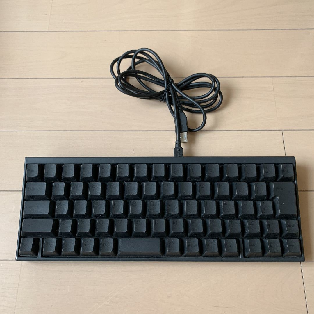 PFU Happy Hacking Keyboard Professional JP 日本語配列 墨 USBキーボード 静電容量無接点 Nキーロールオーバー 黒 富士通 PD-KB420B