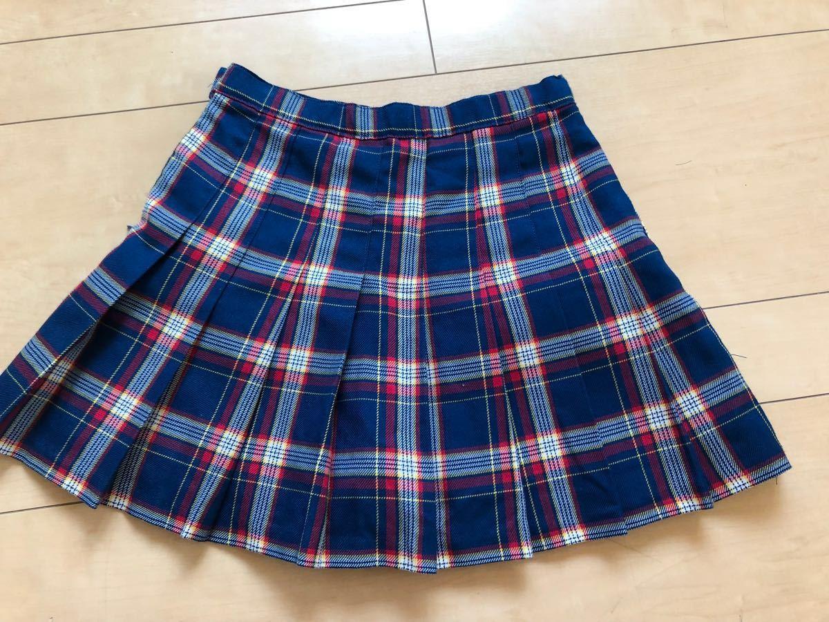 ☆ジェニィ ラブ ☆JENNI love☆青系のチェックのスカート☆ショートパンツ付き☆サイズ140☆美品 _画像4