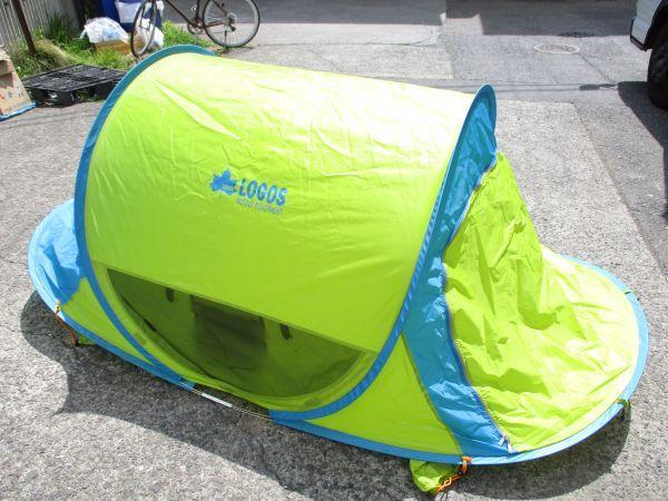 ♪廃番 LOGOS ロゴス サンシェード ポップフルシェルター ポップアップ ワンタッチ テント サンシェード 希少カラー 41513A♪_画像2