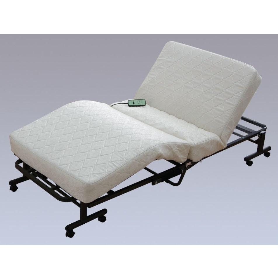 電動リクライニングベッド 電動ベッド リクライニングベッド 介護ベッド 福祉ベッド 折りたたみベッド シングルベッド ホワイト_画像2