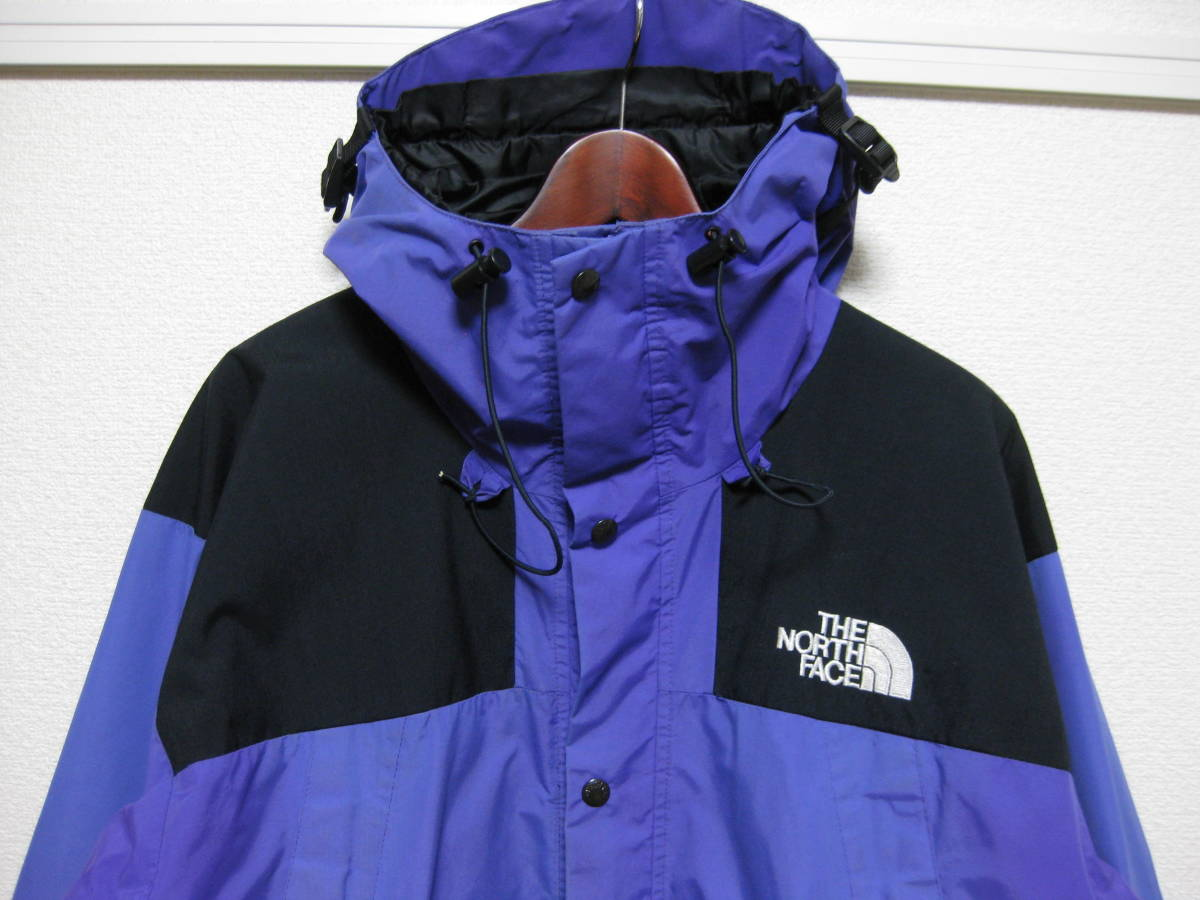 THE NORTH FACE MOUNTAIN JACKET L purple ビンテージ gore tex ラダーロック 1990 GTX vintage arc logo parka 1994 light the apartment_画像2