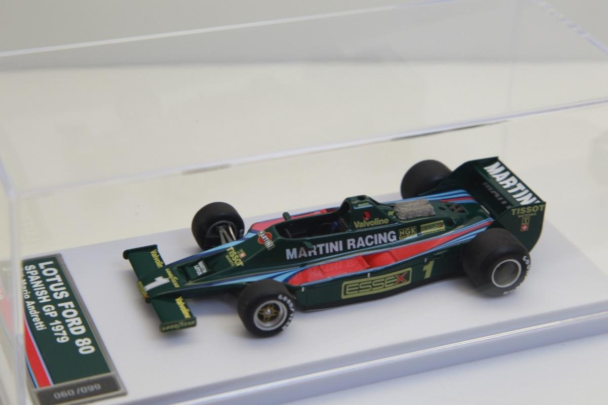限定99台 タメオ完成品 1/43 マルティニ ロータス80 フォード 1979 スペインGP M.アンドレッティ【TMB52】1904 マリオ_画像3