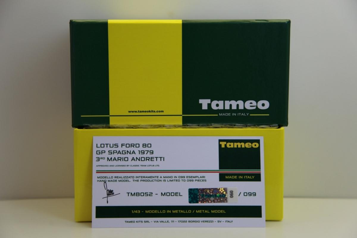 限定99台 タメオ完成品 1/43 マルティニ ロータス80 フォード 1979 スペインGP M.アンドレッティ【TMB52】1904 マリオ_画像7