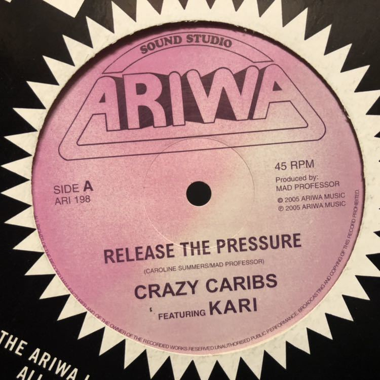 CRAZY CARIBS FEATURING KARI, MAD PROFESSOR WITH MAFFIA & FLUXY/Release The Pressure, Message From The Meteorite/12inch USED_画像2