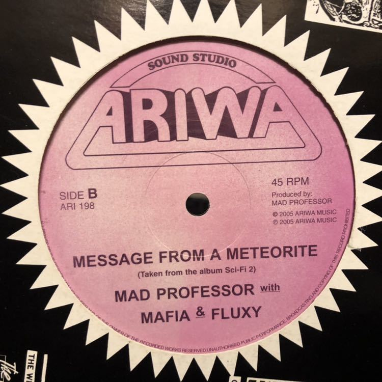 CRAZY CARIBS FEATURING KARI, MAD PROFESSOR WITH MAFFIA & FLUXY/Release The Pressure, Message From The Meteorite/12inch USED_画像3